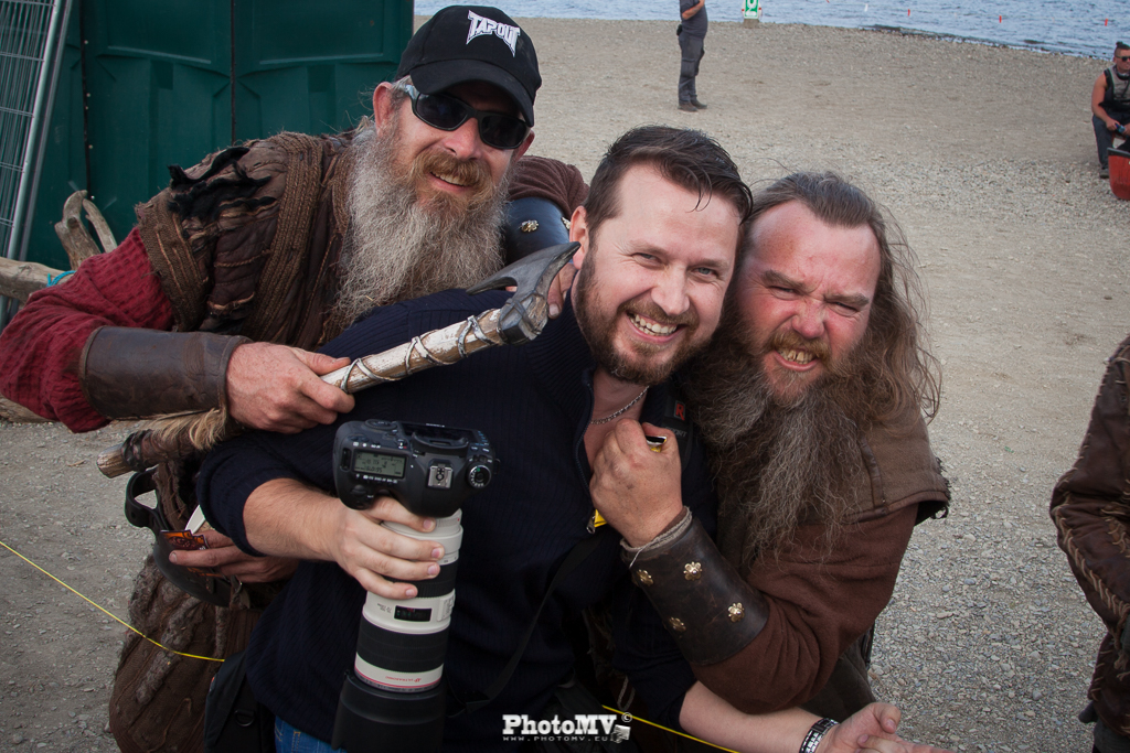 Mario with Vikings on filming in Ireland. PhotoMV