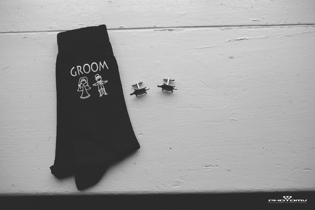 Grooms socks, detail photo