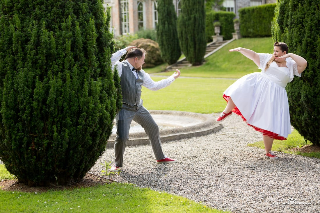 Karate at a wedding in Ireland