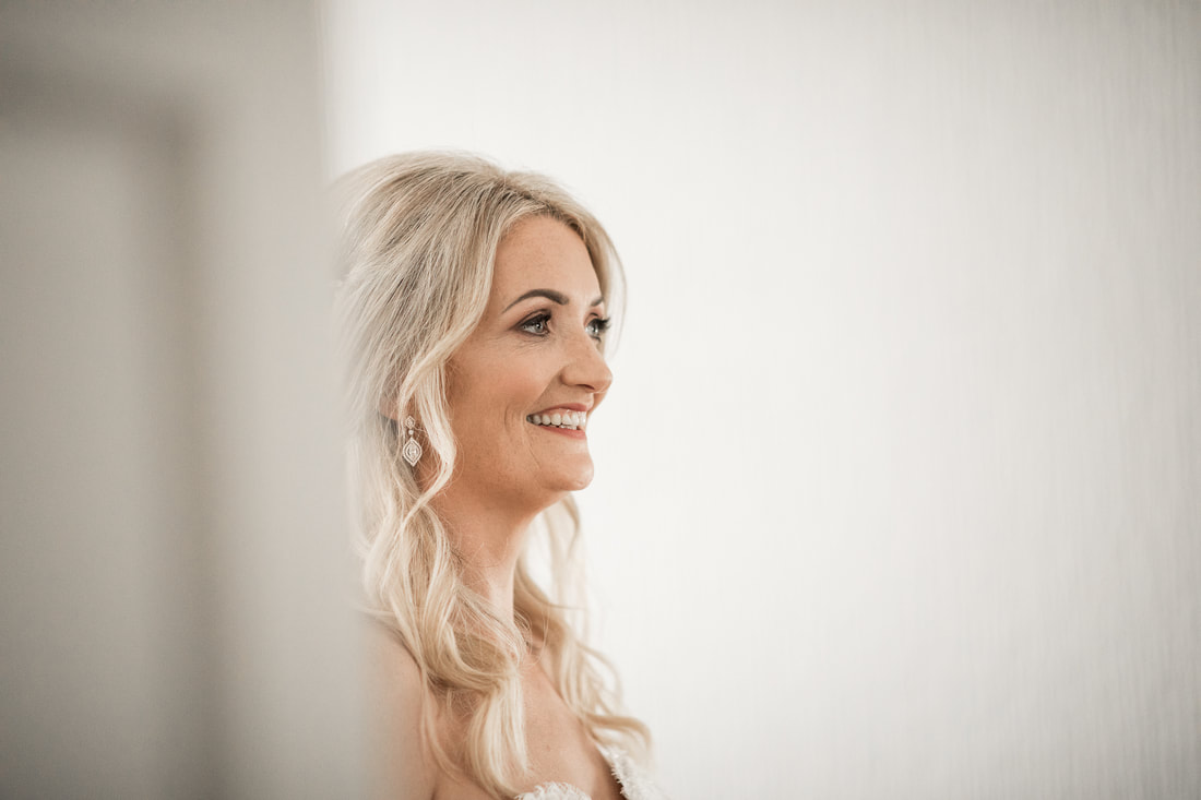 smile of a beautiful bride
