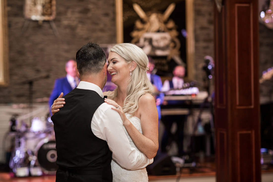 First dance at a wedding in Darver Castle