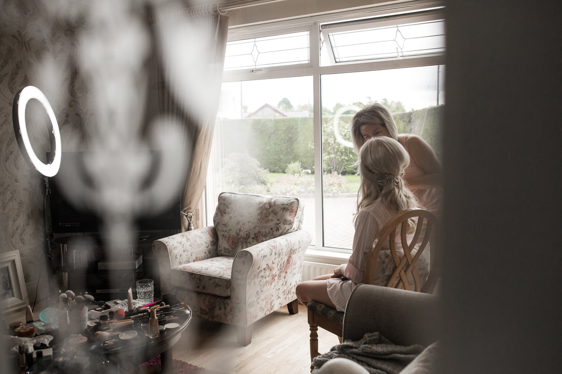 brides morning preparation documentary photography by mario vaitkus