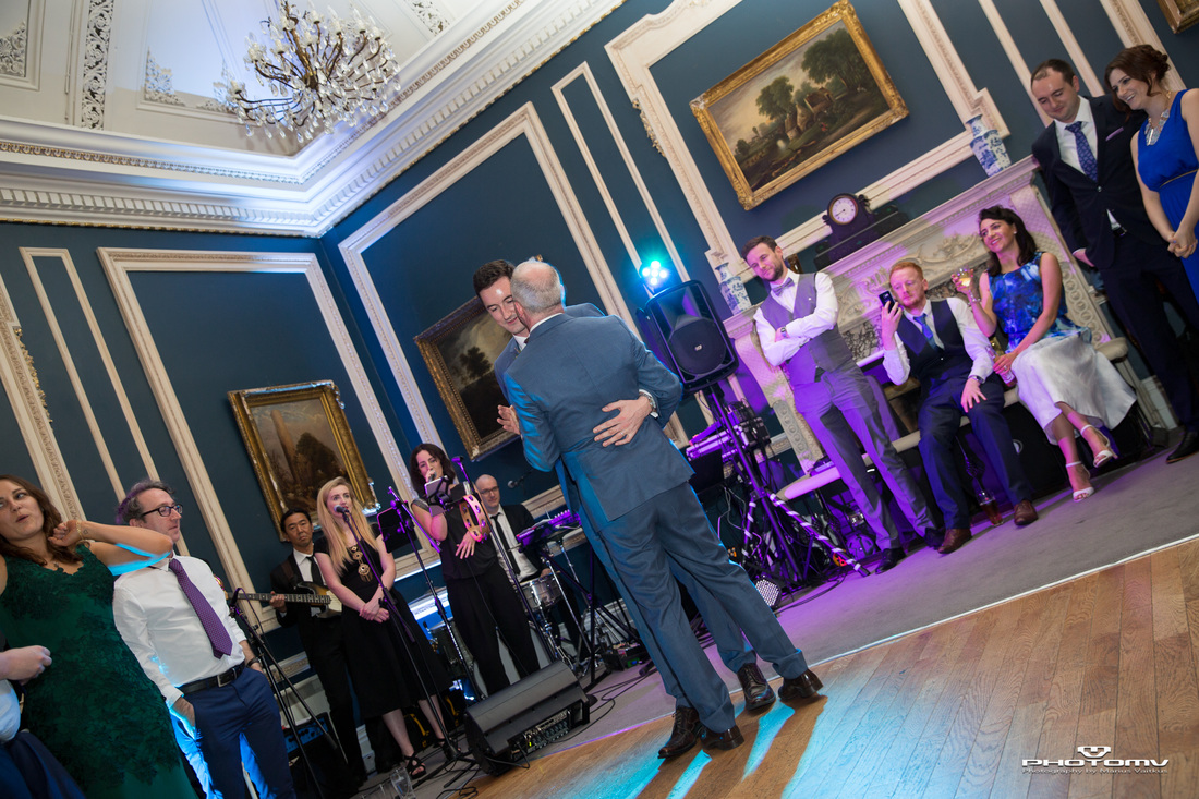 Gay couple first dance at Hibernian Club