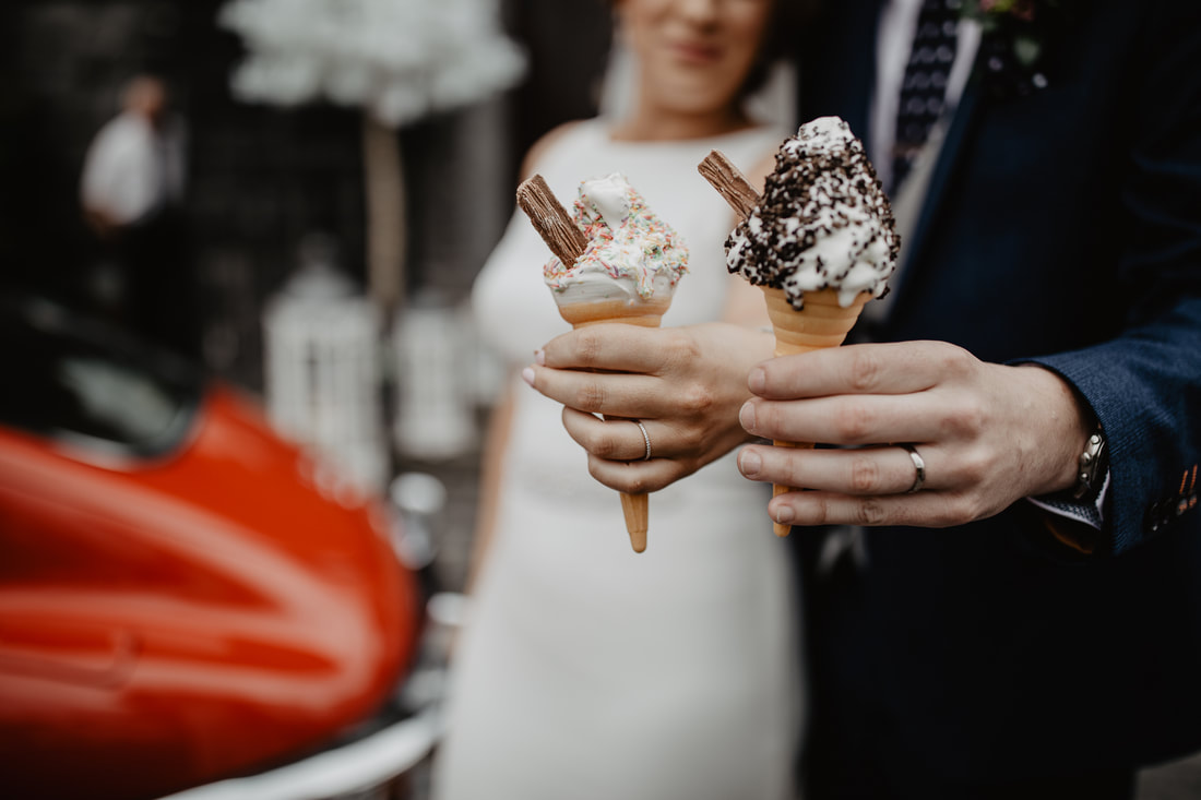 Ice-cream at a wedding