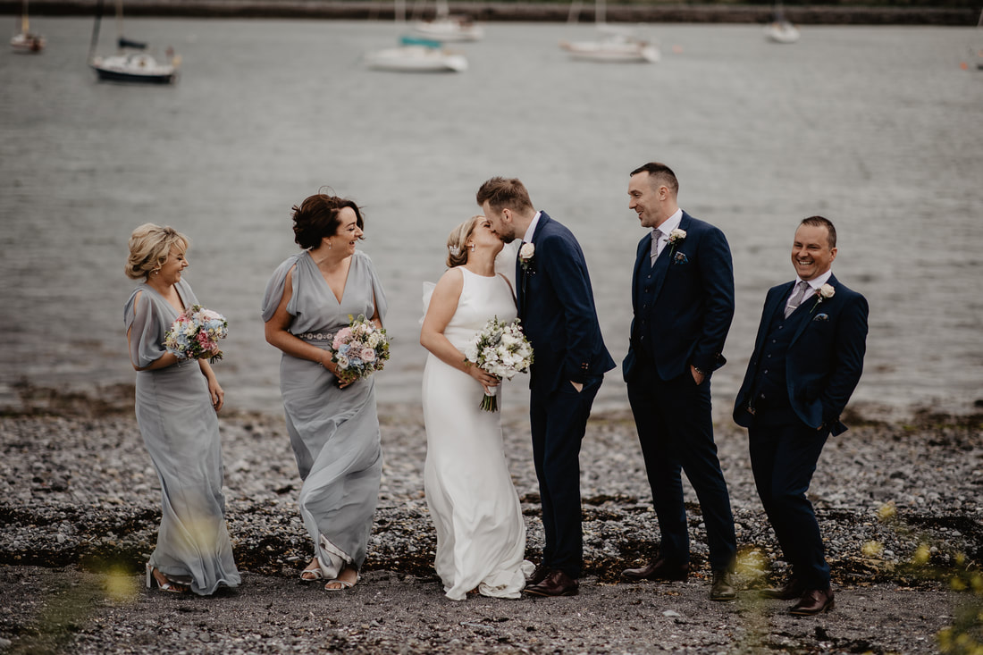 Bridal party shots in Galway
