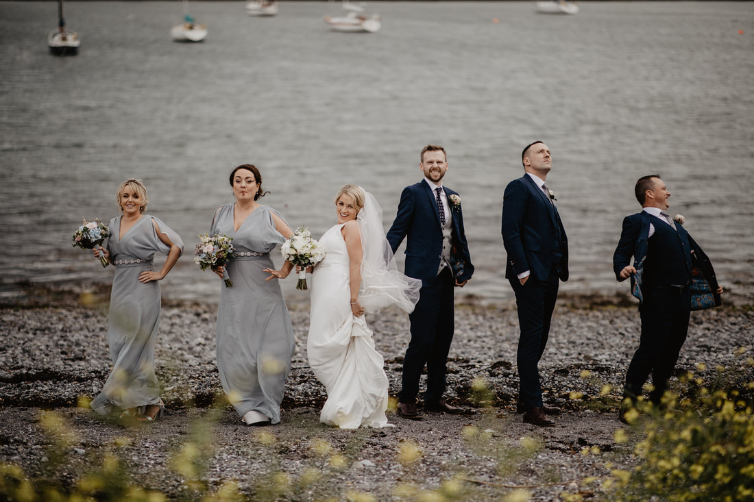 Bridal party photography in Galway