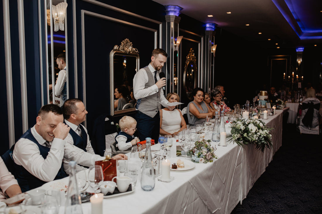 Grooms speech at a wedding at The G Hotel