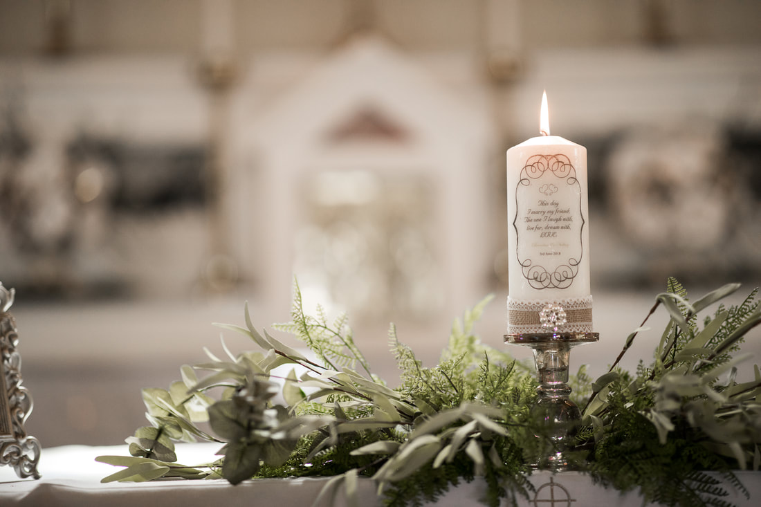 wedding candle, Ireland