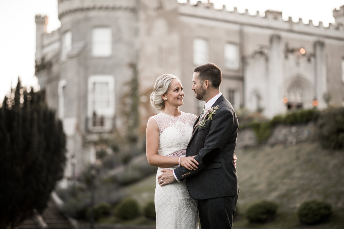 wedding photo at Bellingham Castle