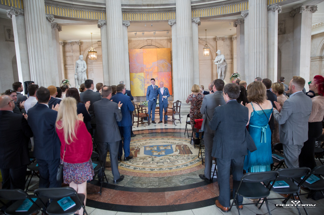 Same sex wedding ceremony in Dublin captured bu tallented photographer Mario from PhotoMV