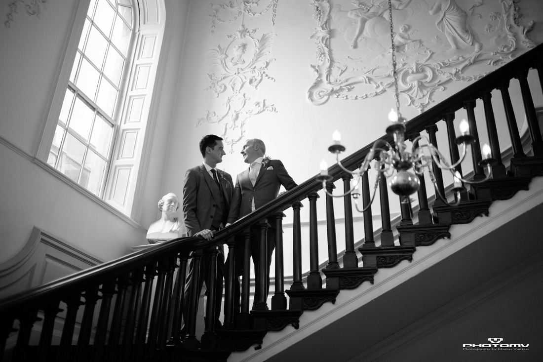 Hibernian club stairs guy newlyweds