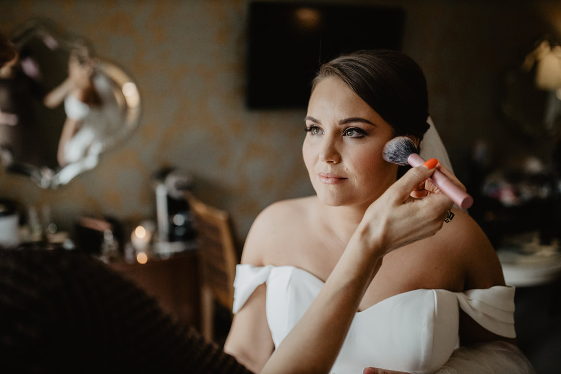 Bridal make up at Clanard Court Hotel, Athy, Co. Kildare by wedding photographer Mario Vaitkus
