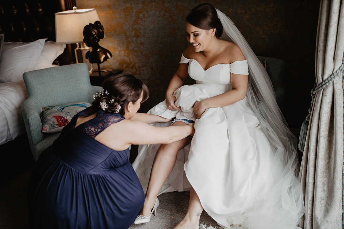 Something blue, at Clanard Court Hotel, Athy, Co. Kildare by wedding photographer Mario Vaitkus