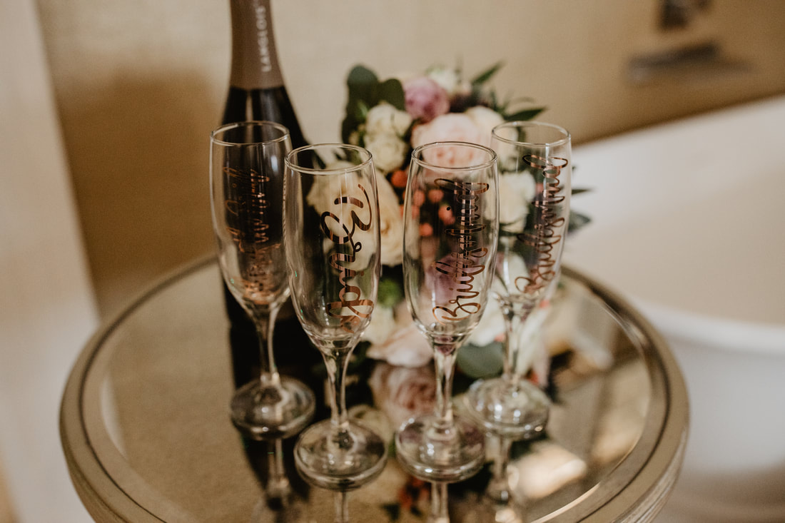 Glasses, at Clanard Court Hotel, Athy, Co. Kildare by wedding photographer Mario Vaitkus