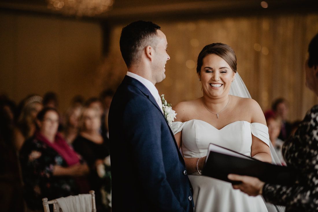 LOL at a wedding ceremony at Clanard Court Hotel, Athy, Co. Kildare by wedding photographer Mario Vaitkus