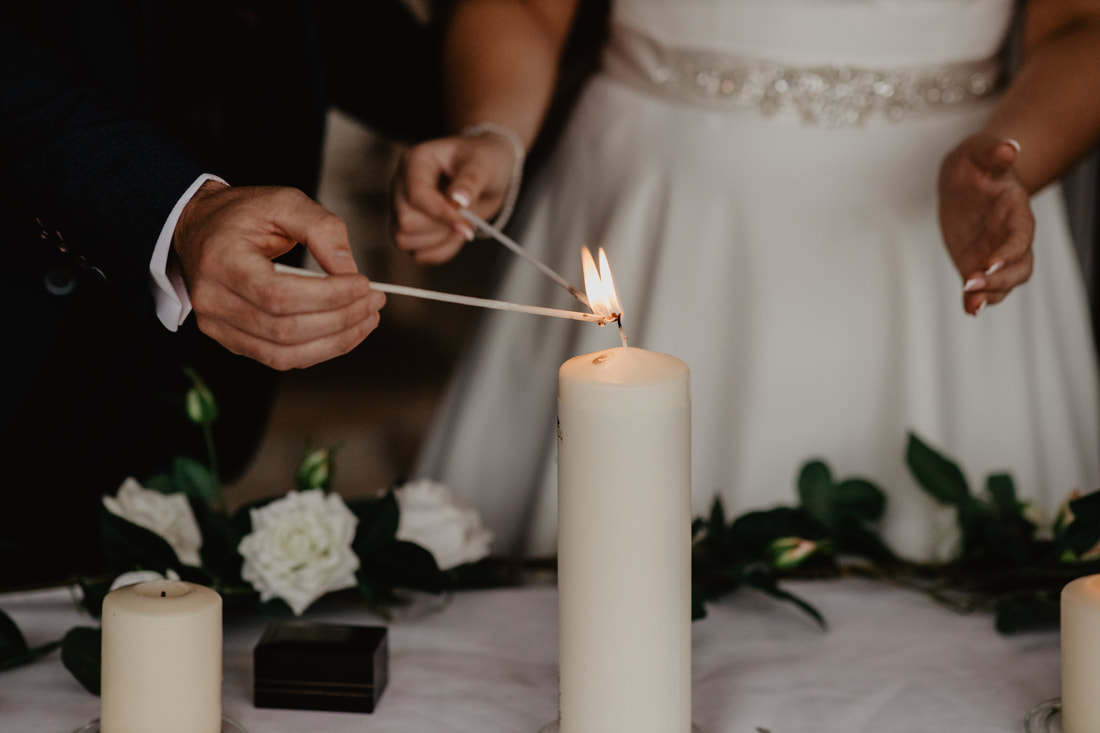 Candle lit at Clanard Court Hotel, Athy, Co. Kildare by wedding photographer Mario Vaitkus