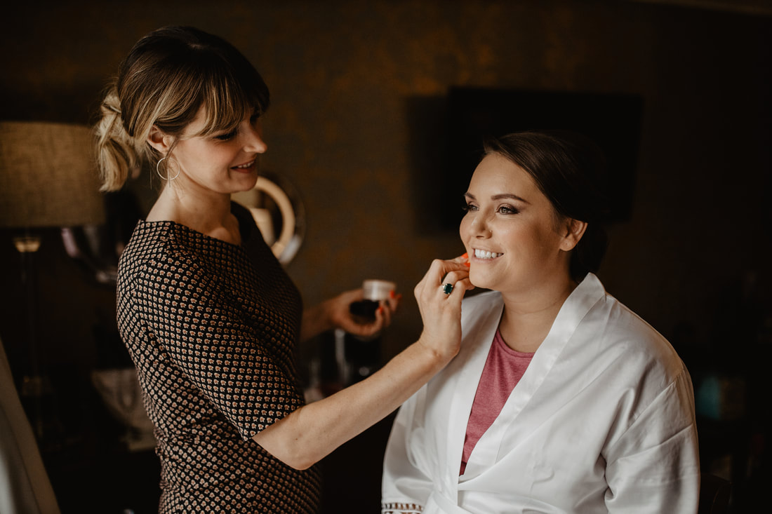 Bridal makeup at Clanard Court Hotel, Athy, Co. Kildare by wedding photographer Mario Vaitkus