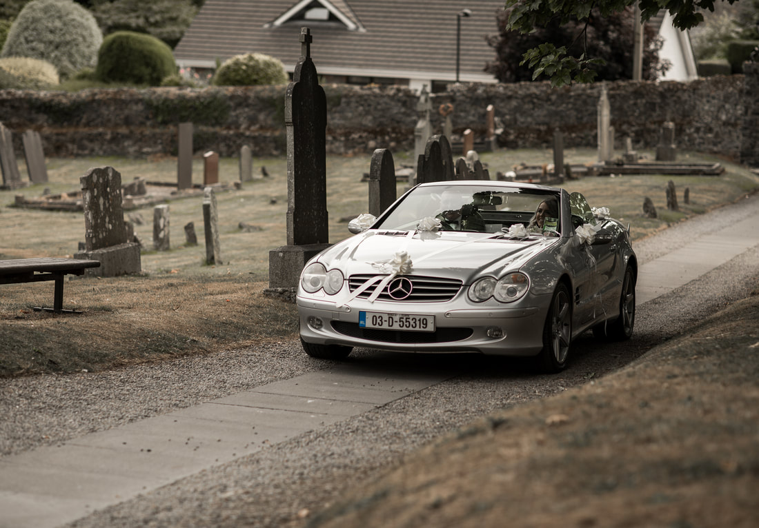 convertible mercedes for bride