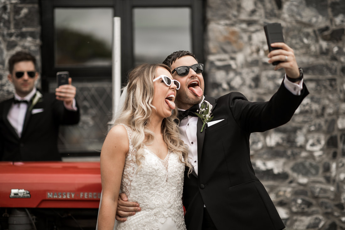 Crazy wedding selfie
