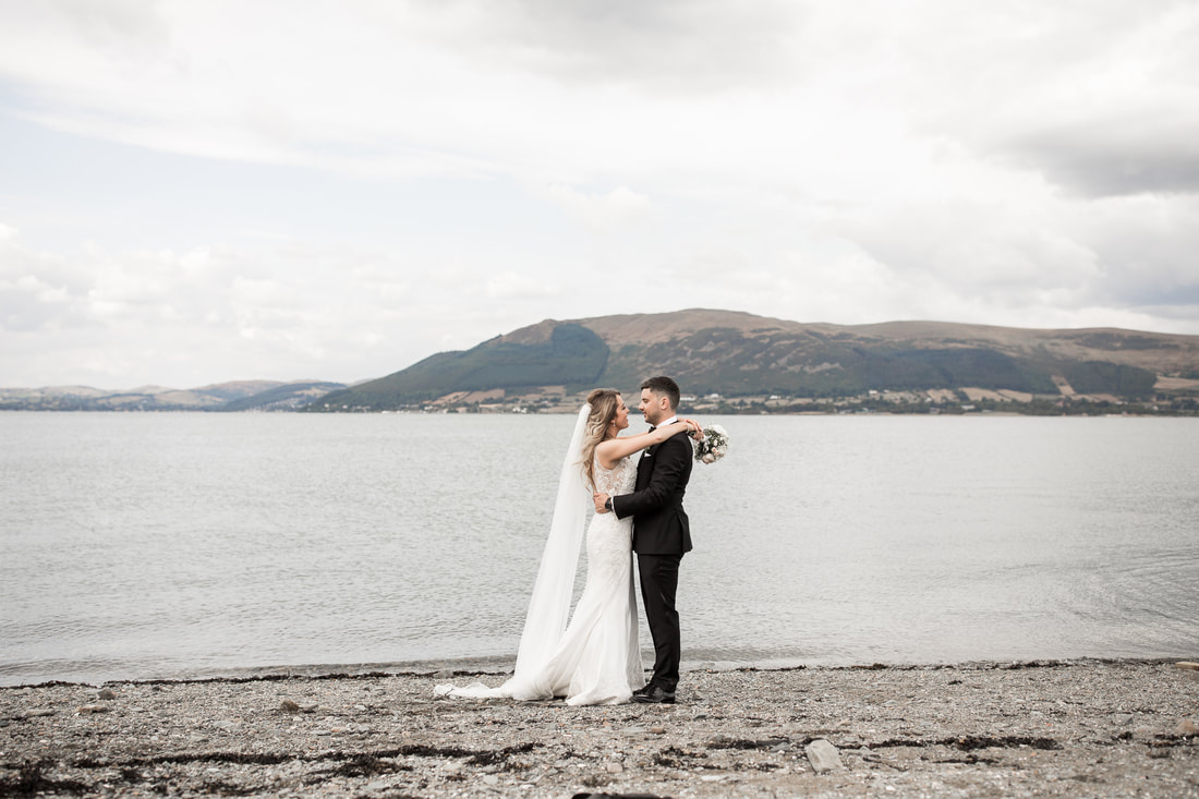 Carlingford beach wedding photo