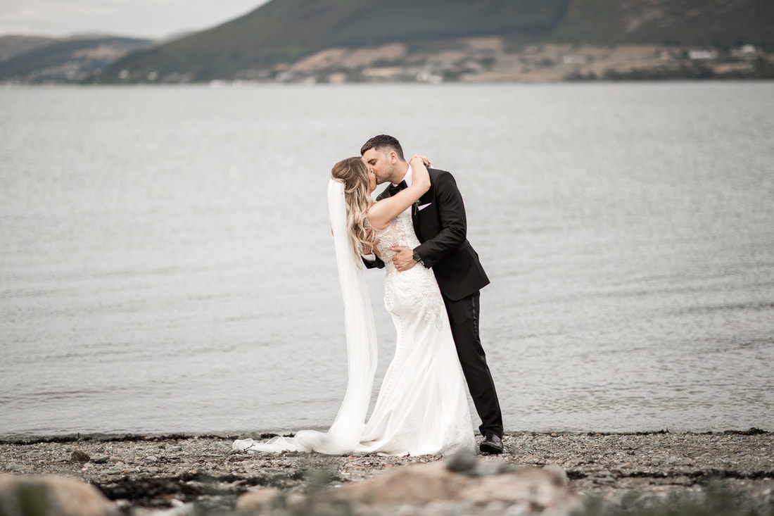 Kiss at a Carlingford beach