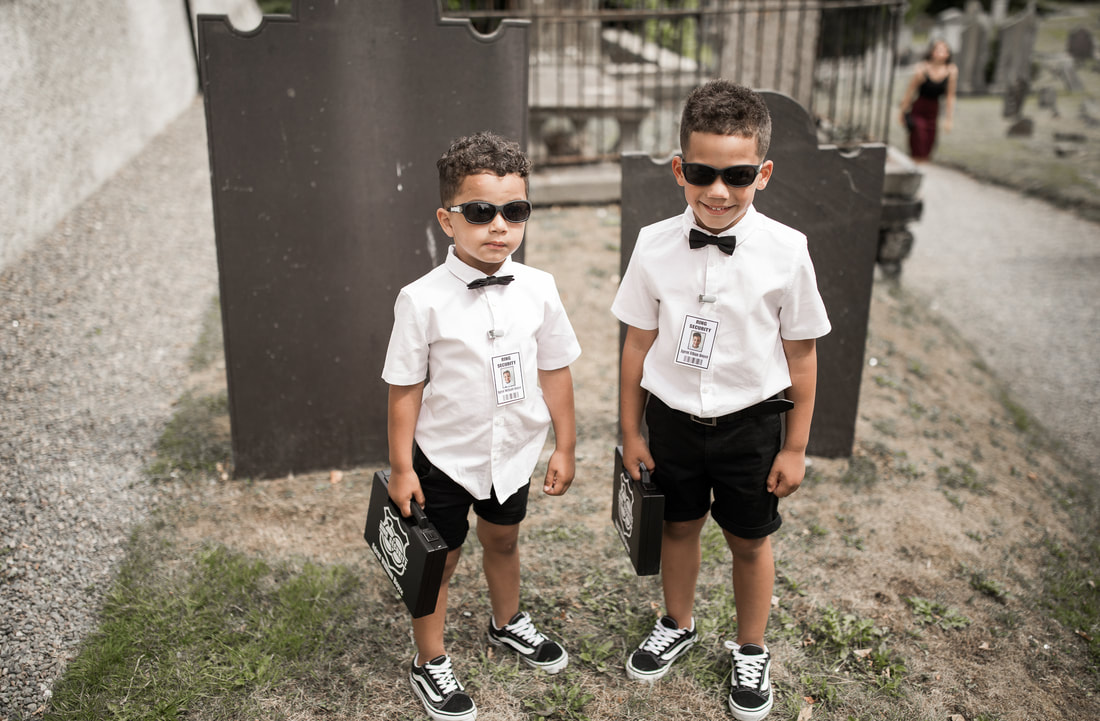 page boys with shades